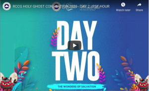 Rccg Holy Ghost Convention 2020 Day 2 Live Broadcast