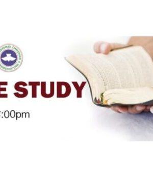 RCCG BIBLE STUDY DIGGING DEEP