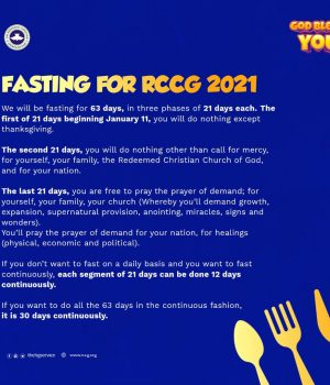RCCGD 2021 FASTING AND PRAYER